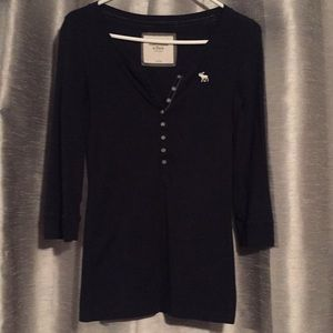 Abercrombie & Fitch Navy Henley